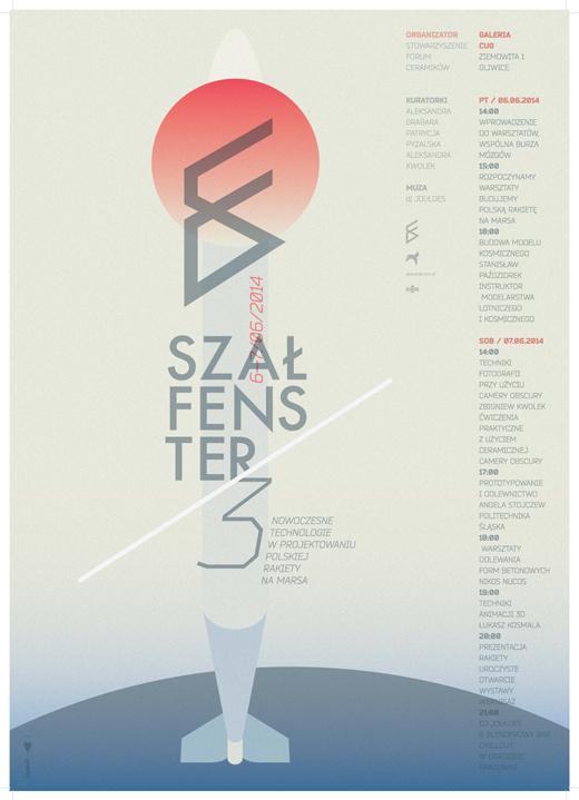 Plakat imprezy Szałfenster 2014